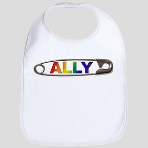 Safety Pin Ally LGBTQ Baby Bib