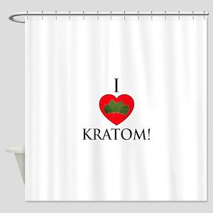 I Love Kratom! Shower Curtain