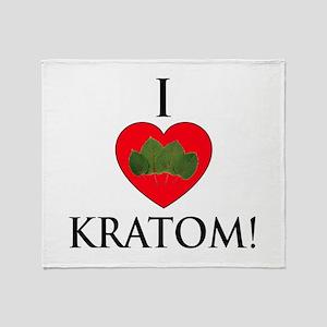 I Love Kratom! Throw Blanket