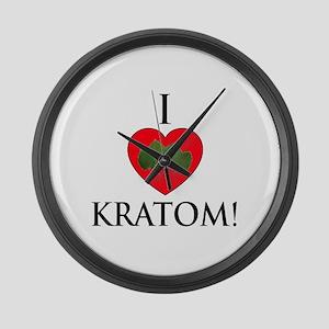 I Love Kratom! Large Wall Clock