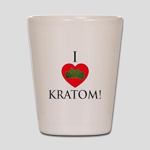 I Love Kratom! Shot Glass