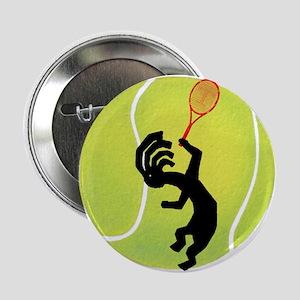 """Kokopelli Tennis 2.25"""" Button"""