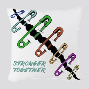 Stronger Woven Throw Pillow