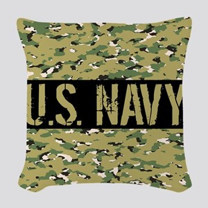 U.S. Navy: Camouflage (NWU III Woven Throw Pillow