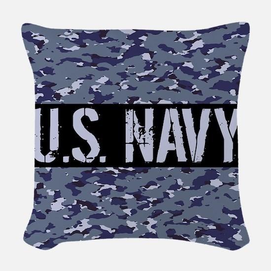 U.S. Navy: Camouflage (NWU I C Woven Throw Pillow