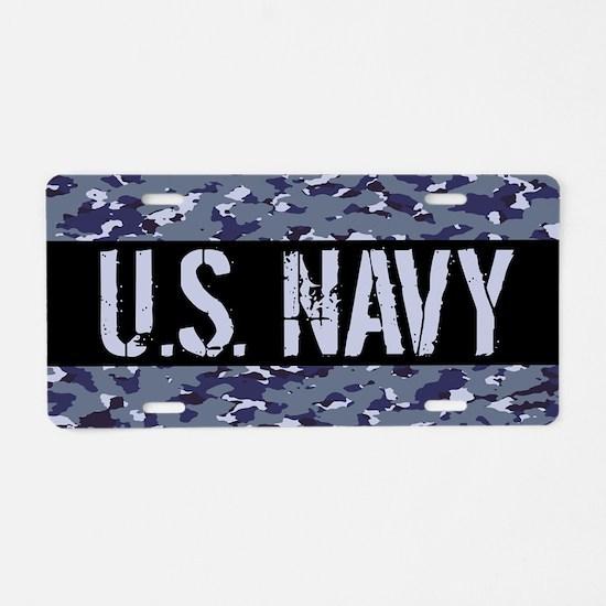 U.S. Navy: Camouflage (NWU Aluminum License Plate