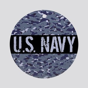U.S. Navy: Camouflage (NWU I Colors Round Ornament