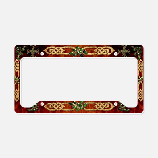 Harvest Moons Celtic Holly Cross License Plate Hol