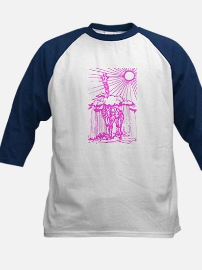 Sunshine giraffe pink. Kids Baseball Jersey