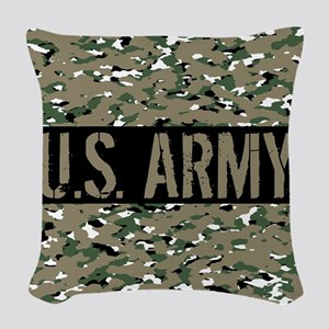U.S. Army (Camouflage) Woven Throw Pillow