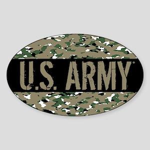 U.S. Army (Camouflage) Sticker (Oval)