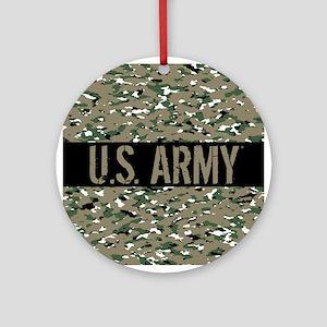 U.S. Army (Camouflage) Round Ornament