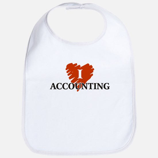 I Love Accounting Bib