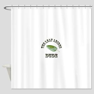 The Leaf Abides Dude Shower Curtain