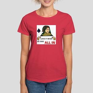 POKER QUEEN Women's Dark T-Shirt