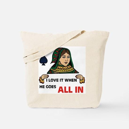POKER QUEEN Tote Bag