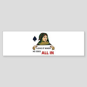 POKER QUEEN Bumper Sticker