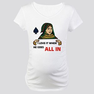 POKER QUEEN Maternity T-Shirt