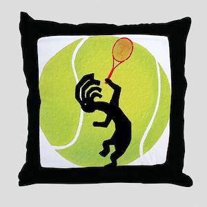 Kokopelli Tennis Throw Pillow