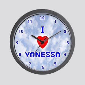 I Love Vanessa (Blue) Valentine Wall Clock