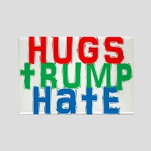 hugs trump hate Magnets