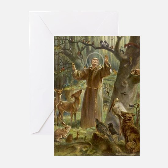 Saint Francis of Assisi Greeting Cards