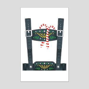 Elf Lederhosen Mini Poster Print