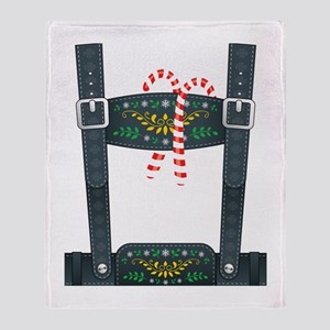 Elf Lederhosen Throw Blanket