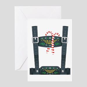 Elf Lederhosen Greeting Card