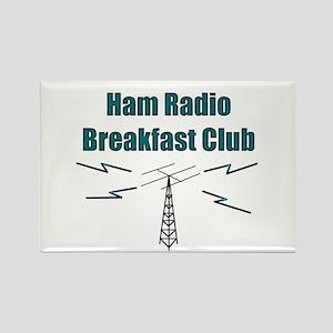 Ham Radio Breakfast Club Rectangle Magnet