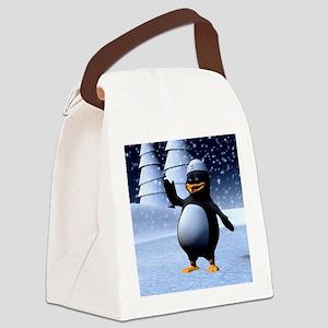 Penguin Canvas Lunch Bag