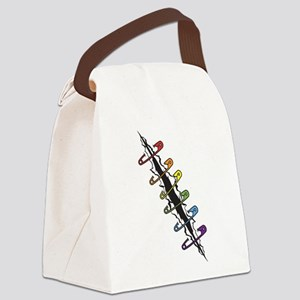 Safety Pins Rainbow Canvas Lunch Bag