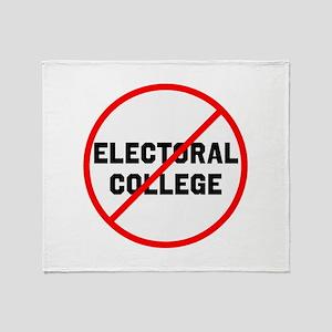 No electoral college Throw Blanket