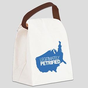 Legitimately Petrified Canvas Lunch Bag