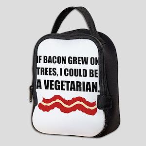 Bacon Grew Trees Vegetarian Neoprene Lunch Bag