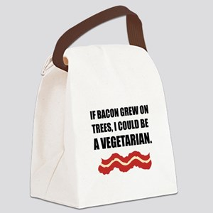 Bacon Grew Trees Vegetarian Canvas Lunch Bag