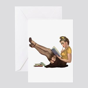 Librarian Girl Greeting Cards