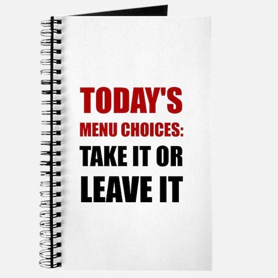 Todays Menu Choices Journal