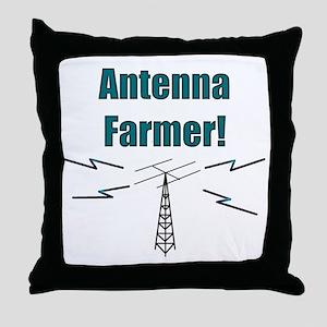 Antenna Farmer! Throw Pillow
