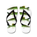 Chain Pickerel Flip Flops