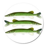 Chain Pickerel Round Car Magnet