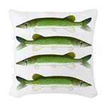 Chain Pickerel Woven Throw Pillow