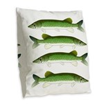Chain Pickerel Burlap Throw Pillow