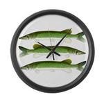 Chain Pickerel Large Wall Clock