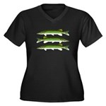 Chain Pickerel Plus Size T-Shirt
