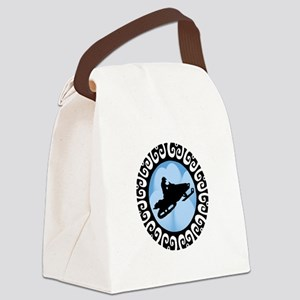 SNOWMOBILE Canvas Lunch Bag