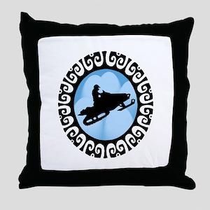 SNOWMOBILE Throw Pillow