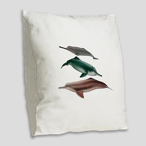 FRESHWATER Burlap Throw Pillow
