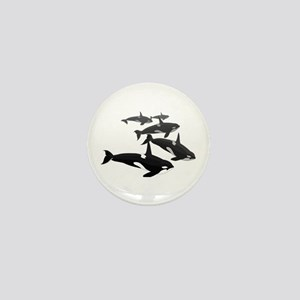 Orca Whale Art Gifts Mini Button