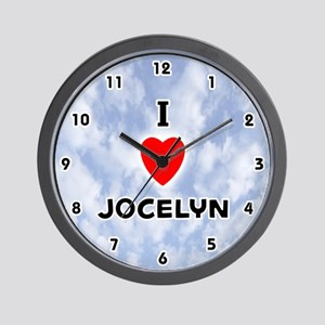 I Love Jocelyn (Black) Valentine Wall Clock